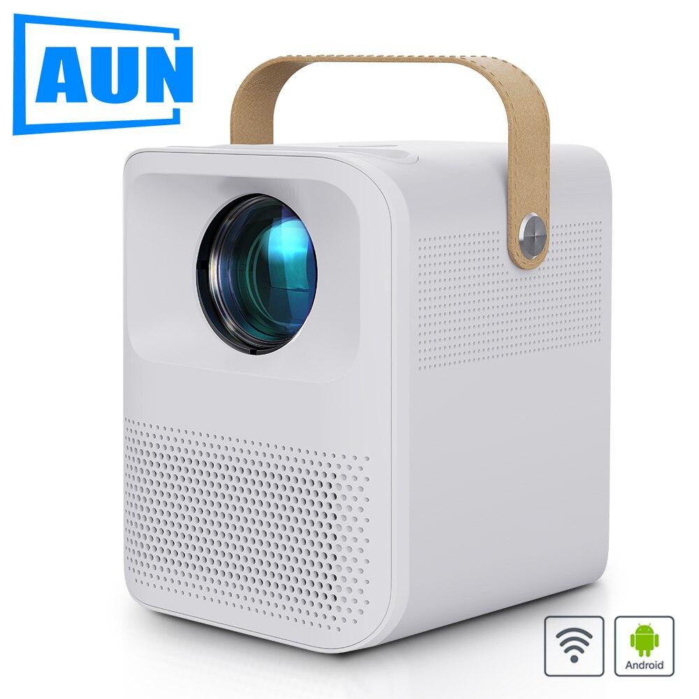AUN projecteur Full HD et30. (Batterie dandroid 7800mAH facultative) MINI projecteur LED portatif de cinéma à la maison 1080P. Vidéo 4k via HDMI