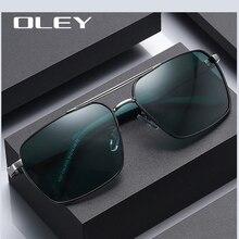 OLEY Polarized sunglasses men Fashion classic Pilot style Aluminum-magnesium high-definition anti-gl