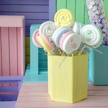 Accessoires sucettes coton bonbon Simulation   Amour deux couleurs assorties, fenêtre accessoire de photographie pour enfants