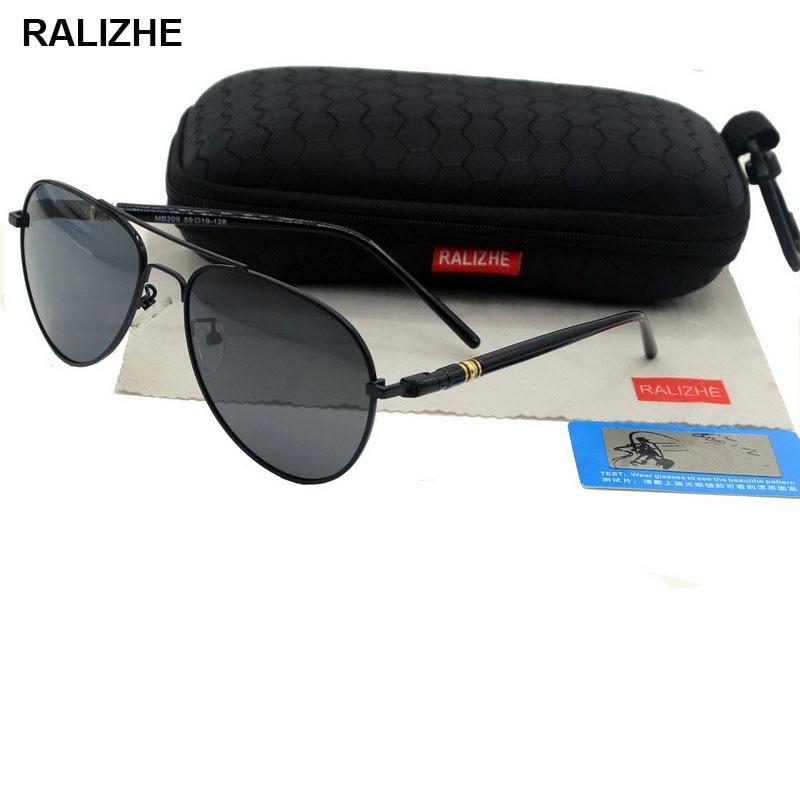 RALIZHE Brand Designer Mens Driving Day Night Vision Sunglasses Goggles Fashion Polarized Aviation L