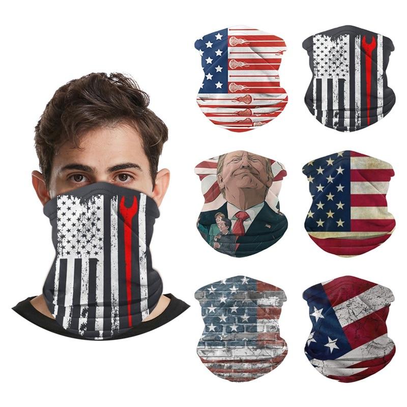 Fashion Men Women Magic Scarf American Flag Face Cover Scarf Ski Sport Motorcycle Biker Cycling Scarf Half Bandana