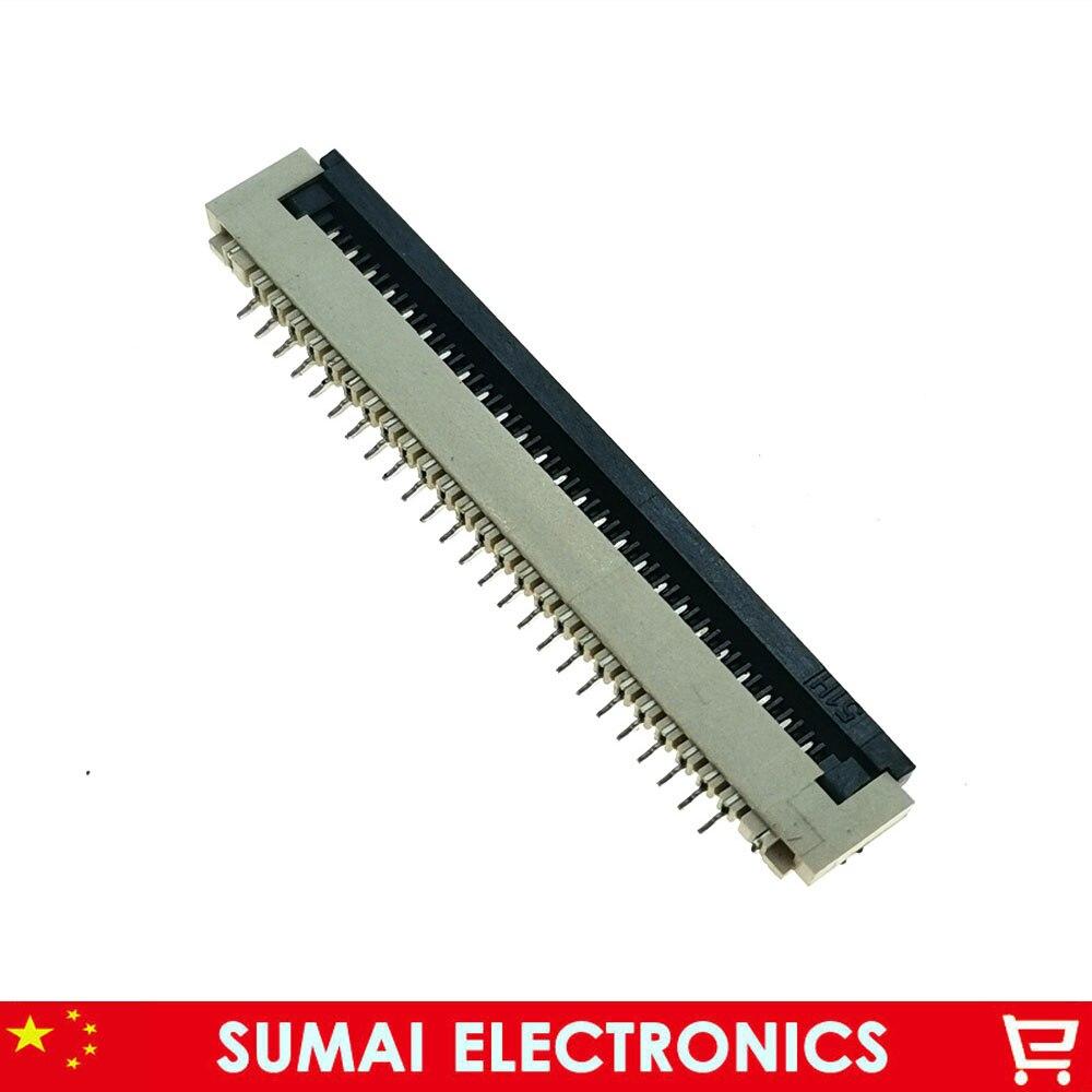 Échantillon, FPC FFC connecteur prise de câble 25 broches 1.0mm connecteur pour écran LCD interface de DVD/GPS/MP3,25 P
