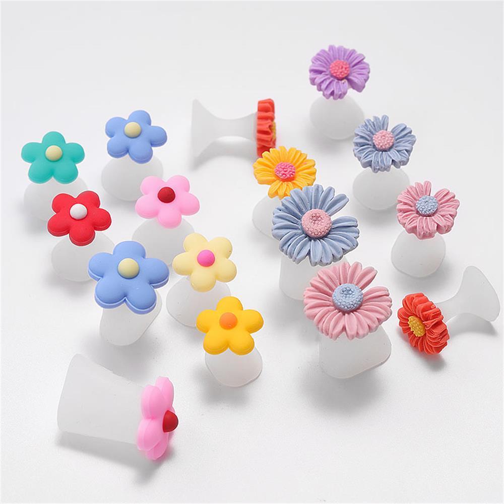8 Teile/satz Silikon Toe Separator Daisy Blume Perlen Design Fuß Teiler Form Zehe Daumen Protector Salon Maniküre Pediküre Werkzeuge