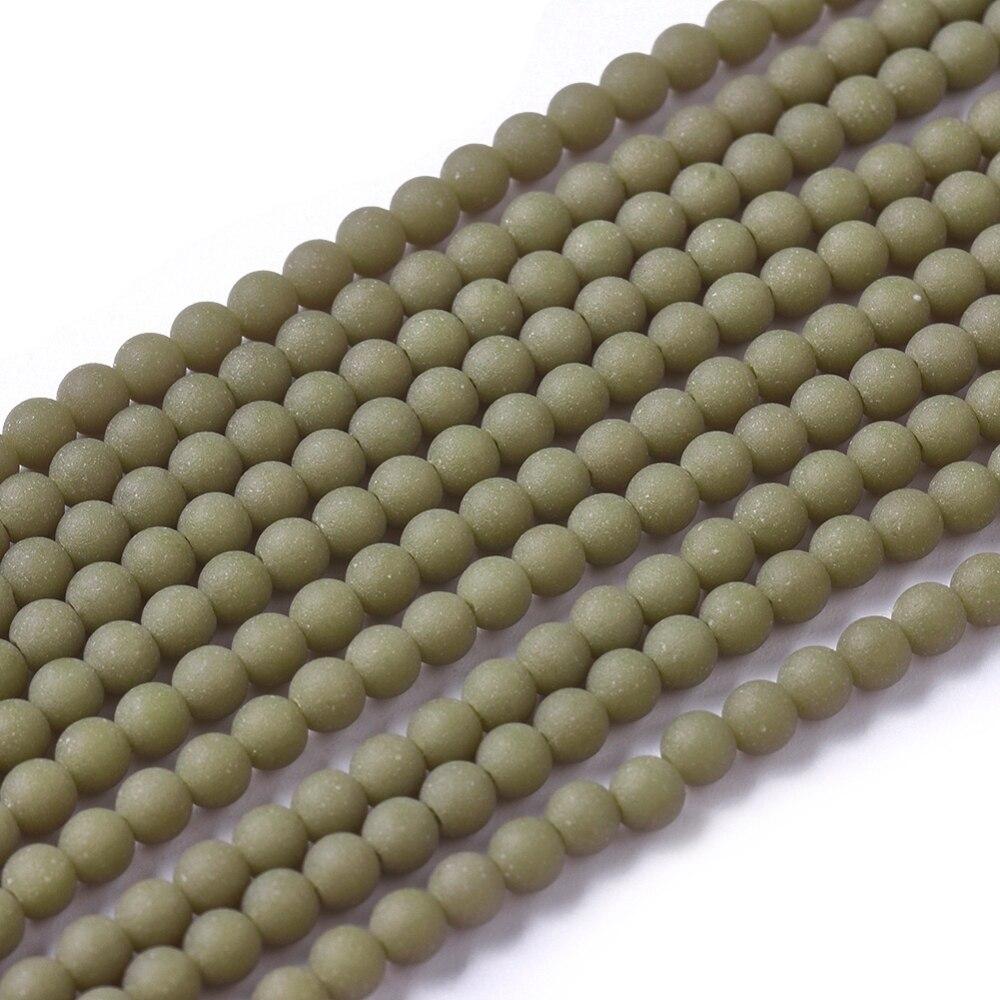 Около-150-шт-нить-матовые-непрозрачные-Стеклянные-круглые-бусины-25-мм-для-изготовления-браслетов-ожерелий-ювелирных-изделий-своими-руками