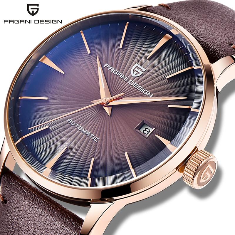 PAGANI DESIGN Men's watches fashion sport gold watch men for top luxury mechanical wrist watch man waterproof leather clock 2020