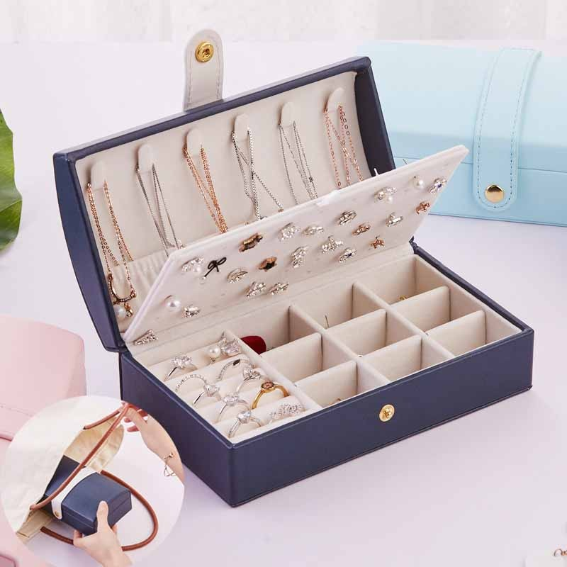 Высокая-Ёмкость-двойной-слой-кожаная-коробка-для-ювелирных-украшений-дорожный-органайзер-для-бижутерии-многофункциональный-ожерелье-хран