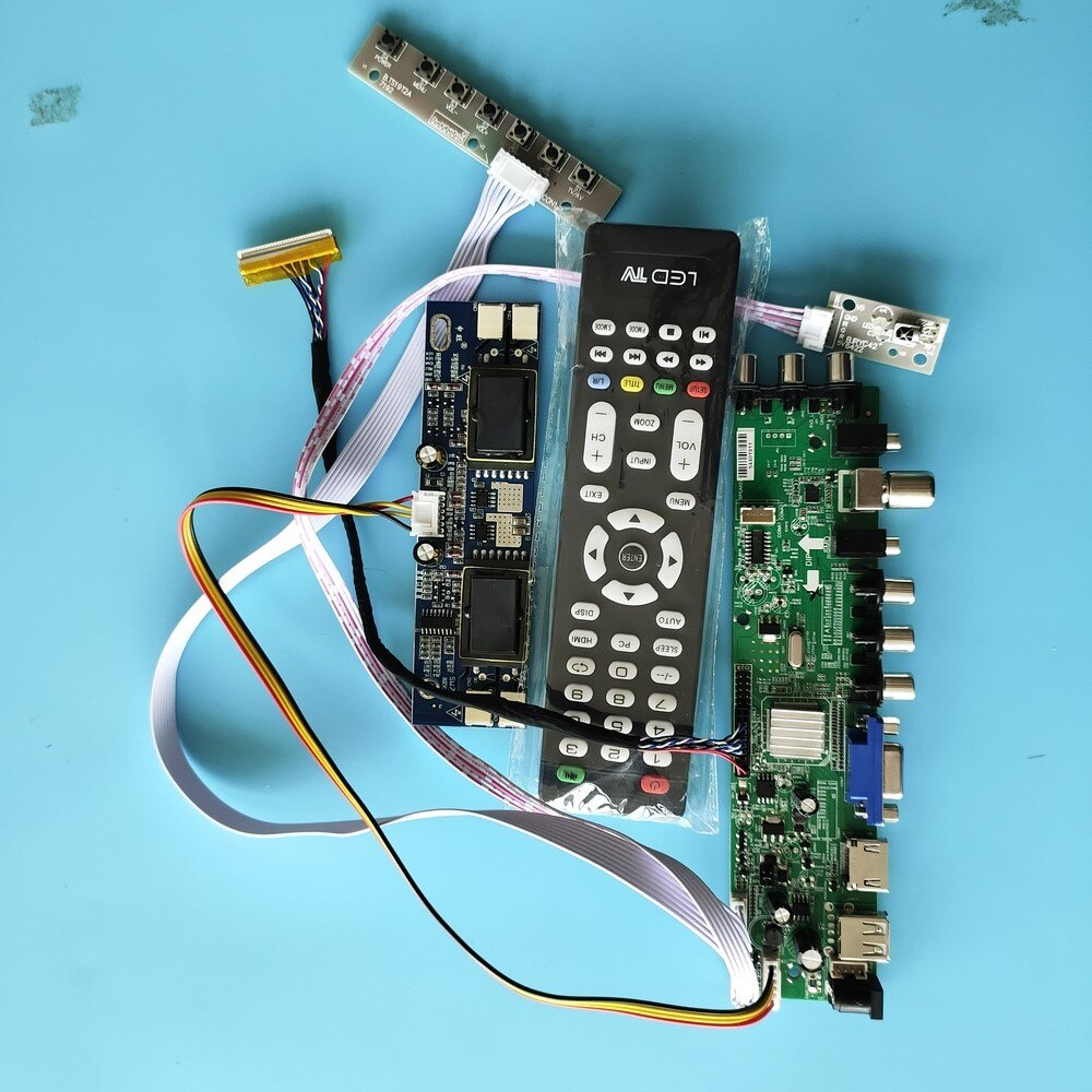 "Kit para placa controladora M190PW01 V2/M190PW01 V3, Panel LCD Digital de 30 Pines, 4 paneles de CCFL HDMI VGA 1440X900 AV TV USB DVB-C DVB-T de 19"""