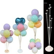 Support de ballons Tube 7/11/13/19   Support de ballons, colonne Confetti de ballons, fournitures de décoration pour fête danniversaire pour enfants réception-cadeau pour bébé et mariage
