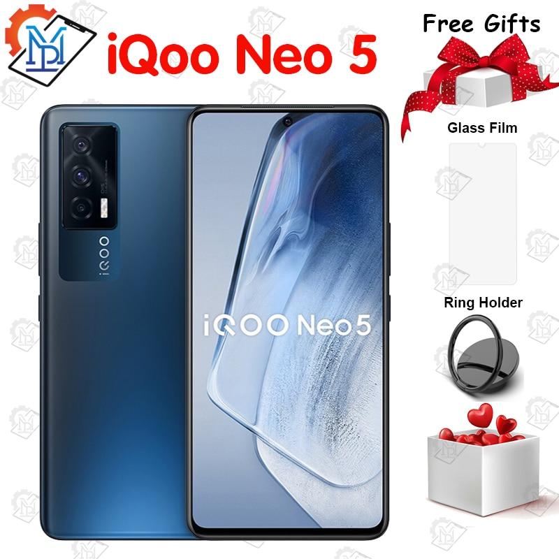 Оригинальный Vivo IQOO Neo 5 5G мобильный телефон 6,62 дюймов 120 Гц активно-матричные осид, Экран 8G + 128G Snapdragon 870 66W Супер Зарядное устройство NFC Смартфо...
