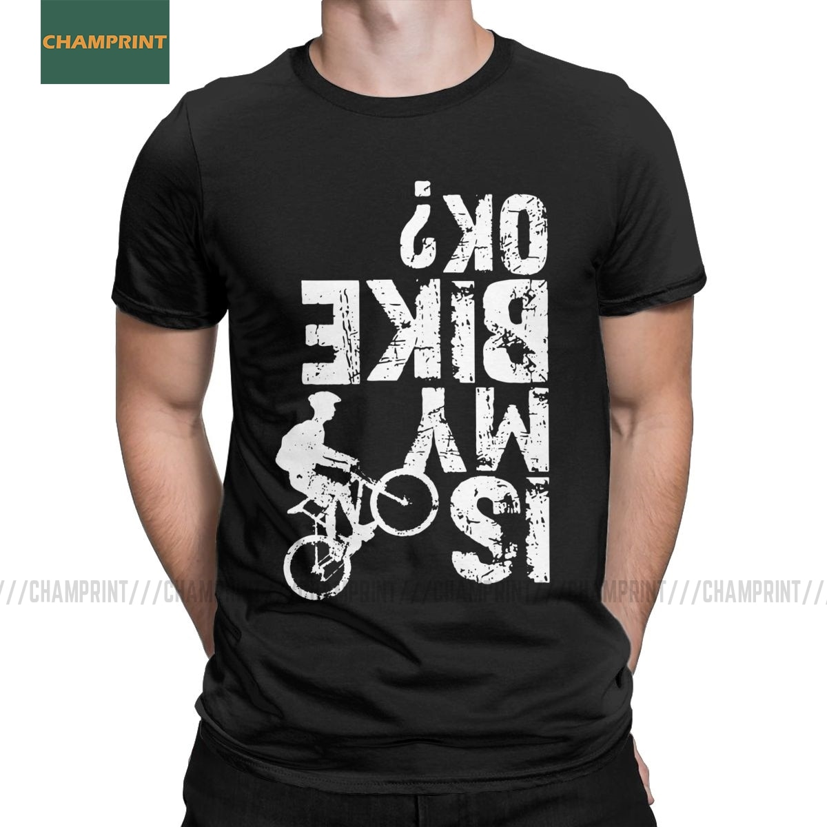 Es mi bicicleta Ok estilo agobiado tipografía ciclismo bicicleta de montaña Camiseta de algodón para hombres camisetas de ciclismo Mtb ciclismo paseo camisetas de talla grande