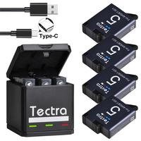For GoPro Hero 8 Hero7 Hero 6 hero 5 Battery+USB Triple Charger&Type C Port for GoPro Hero7 6 5 Action Cameras AHDBT-501 Battery