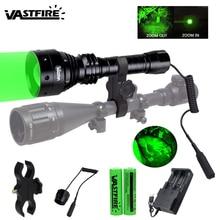 Tactical Green LED Hunting Flashlight Zoom Focus Adjustable Torch 450 yards Lanterna