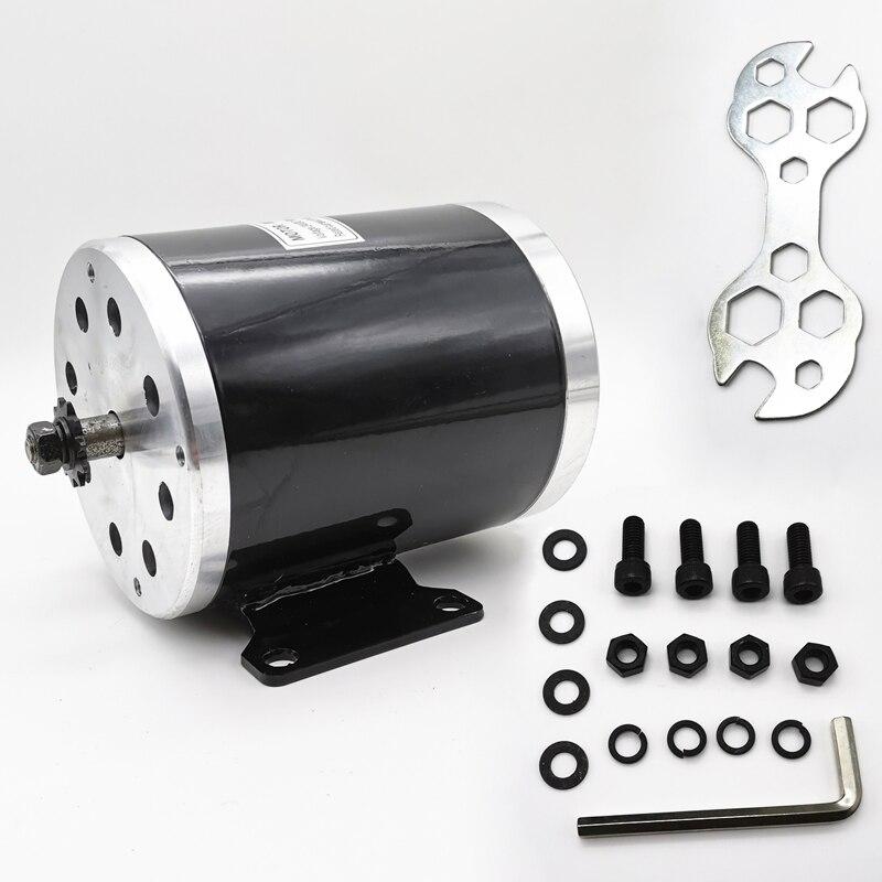 MY1020 36V48V750W 3000 RPM Motor de vehículo eléctrico UNITE DC Motor cepillado con soporte de montaje Motor de Scooter eléctrico de alta potencia