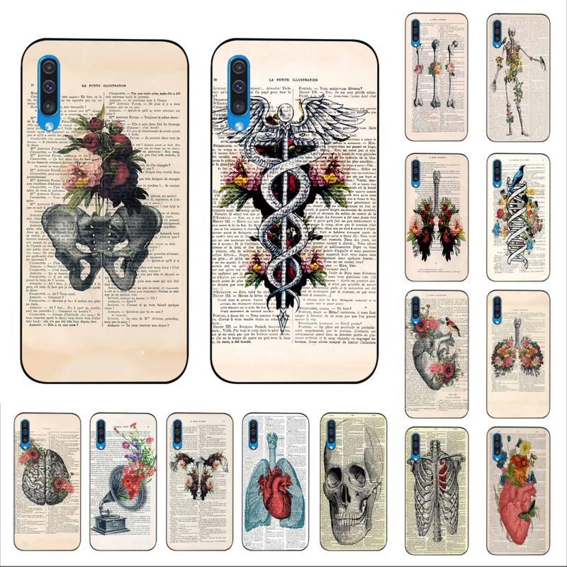 MaiYaCa, órgano de Anatomía Humana, funda de teléfono brillante para Samsung A10 20s 71 51 10s 20 40 50 70 A30s, funda