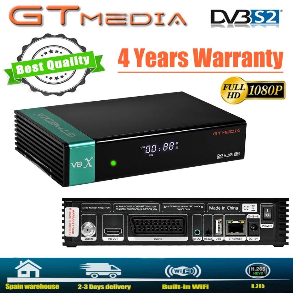 GTmedia-ديكوديفيكادور الأقمار الصناعية V8X ، igual que GTmedia V8 نوفا V8 الشرف DVB-S2 فريسات V9 سوبر H.265 HD ، واي فاي يتضمن ، الخطيئة