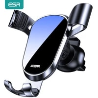 esr gravity car phone holder for iphone redmi samsung huawei universal gravity phone holder air vent mount stand grip bracket