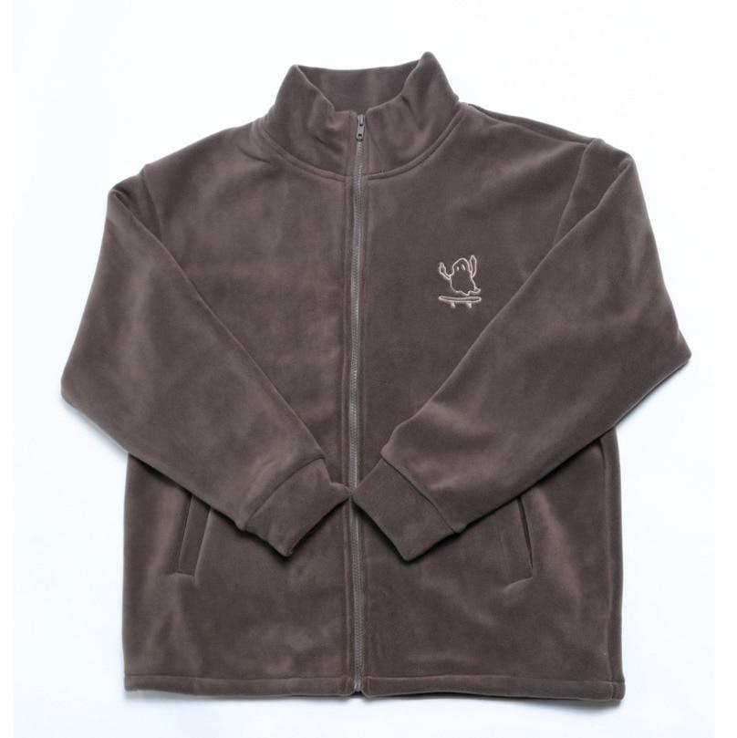 Мужские и женские весенне-зимние новые Брендовые куртки на молнии, флисовая свободная Высококачественная теплая толстовка, повседневные п...