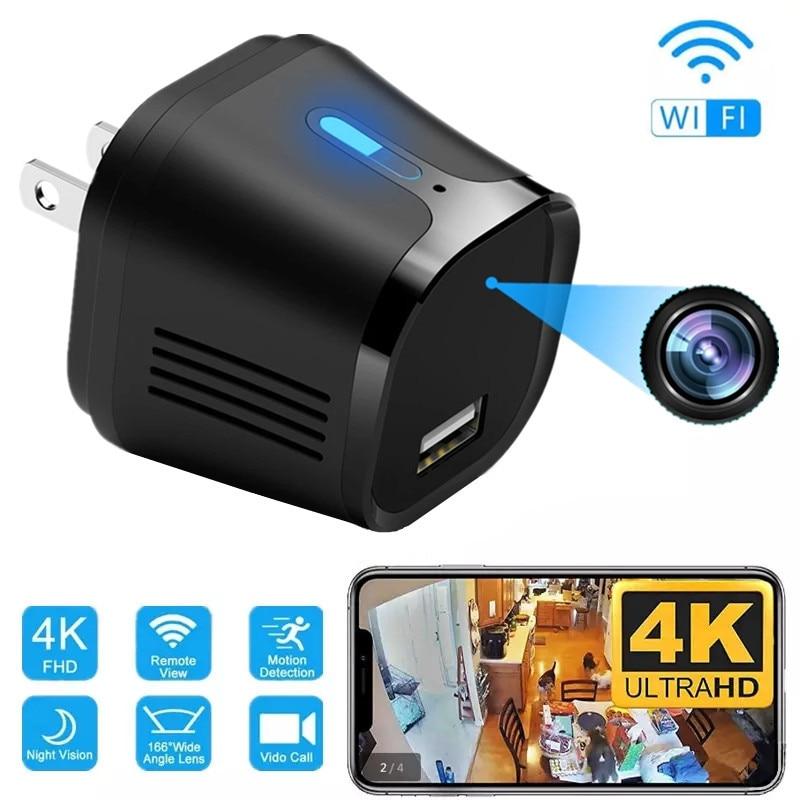 Mini cámara inalámbrica para el hogar, dispositivo de grabación con Wifi, Cargador...