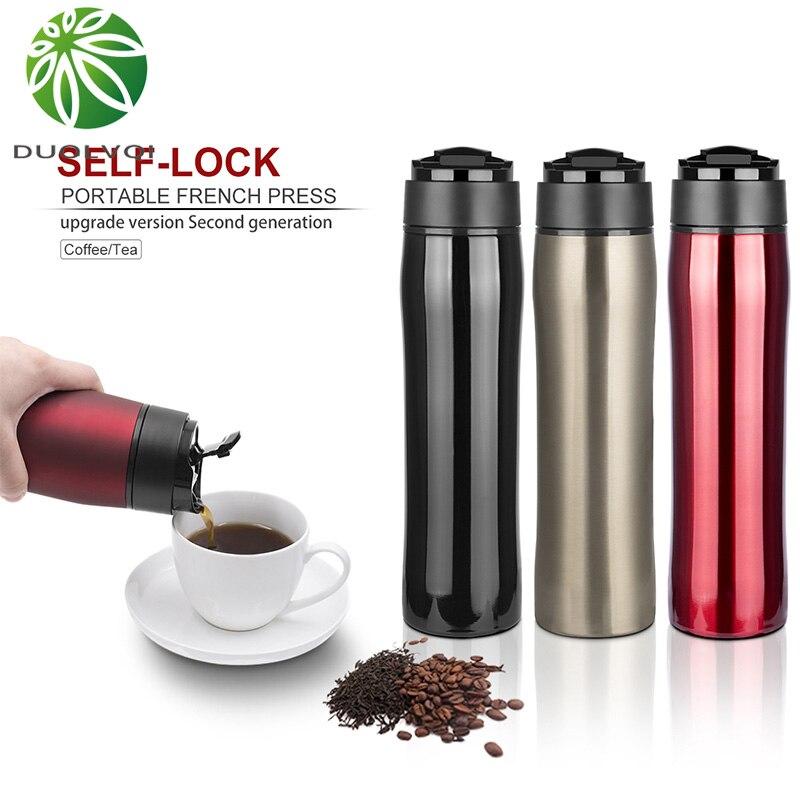 Filtro de aço inoxidável frio portátil da isolação do potenciômetro da imprensa francesa para o chá e o café cafeteira criativa