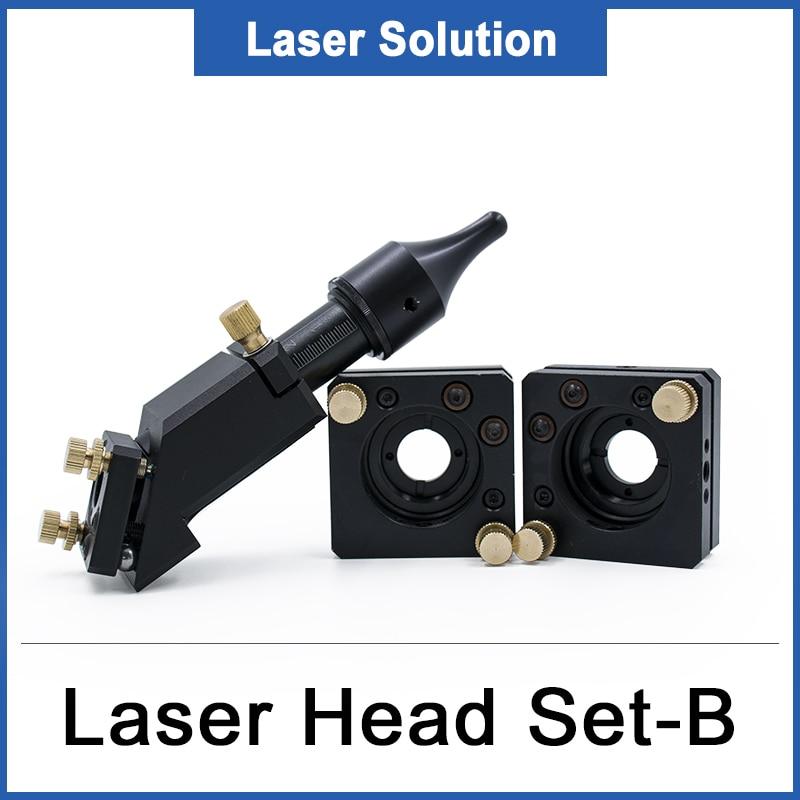 Co2 Laser Head Reflection Laser Mirror Mount Dia 20MM FL50.8 63.5MM Mirror 25MM Diameter for Laser Engraver