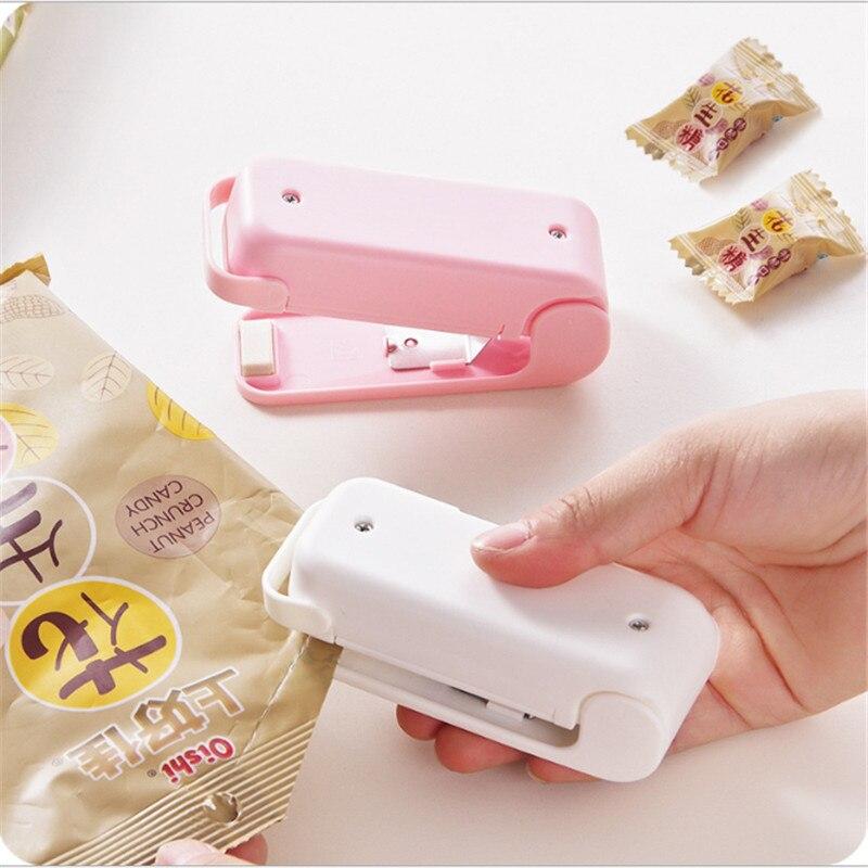 Sellador Portátil Bolsa de calor bolsa de plástico para alimentos Snacks selladora máquina de envasado de alimentos bolsa de almacenamiento de cocina Clips accesorios de cocina