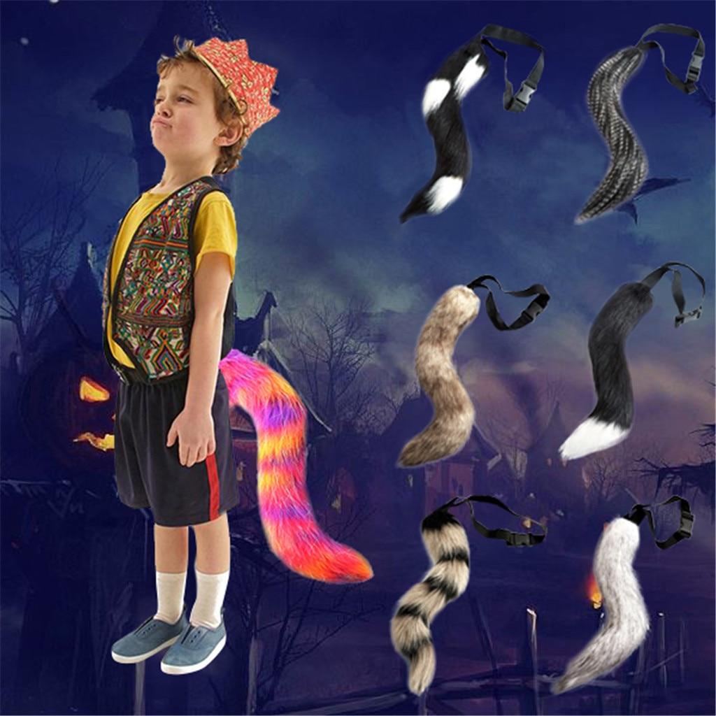 Cosplay de cola de zorro artificial de Halloween de chico de anime bonito de novela ajustable cola de zorro peludo animales festival Fiesta envío gratis 5 *