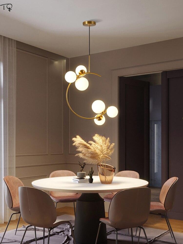 Lámpara colgante nórdica de lujo con forma de Planeta, lámpara colgante de haba mágica Individual moderna, decoración para sala de estar, restaurante y dormitorio