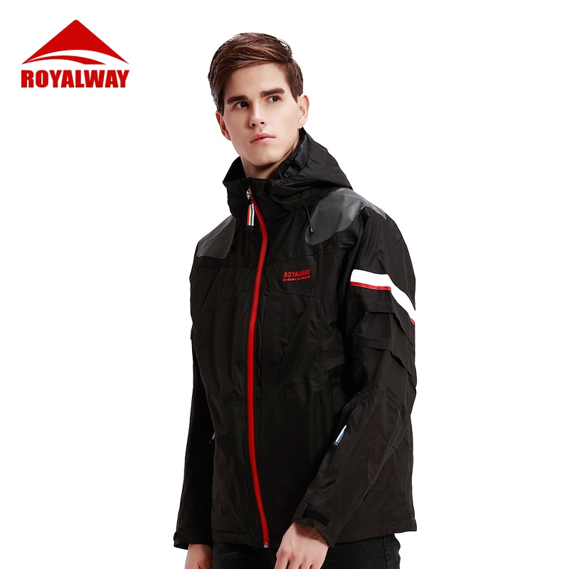 ROYALWAY Ski Suit men Skiing Winter Warm Windproof Waterproof Outdoor Sports Snowboard Jackets Avalanche search rescue system