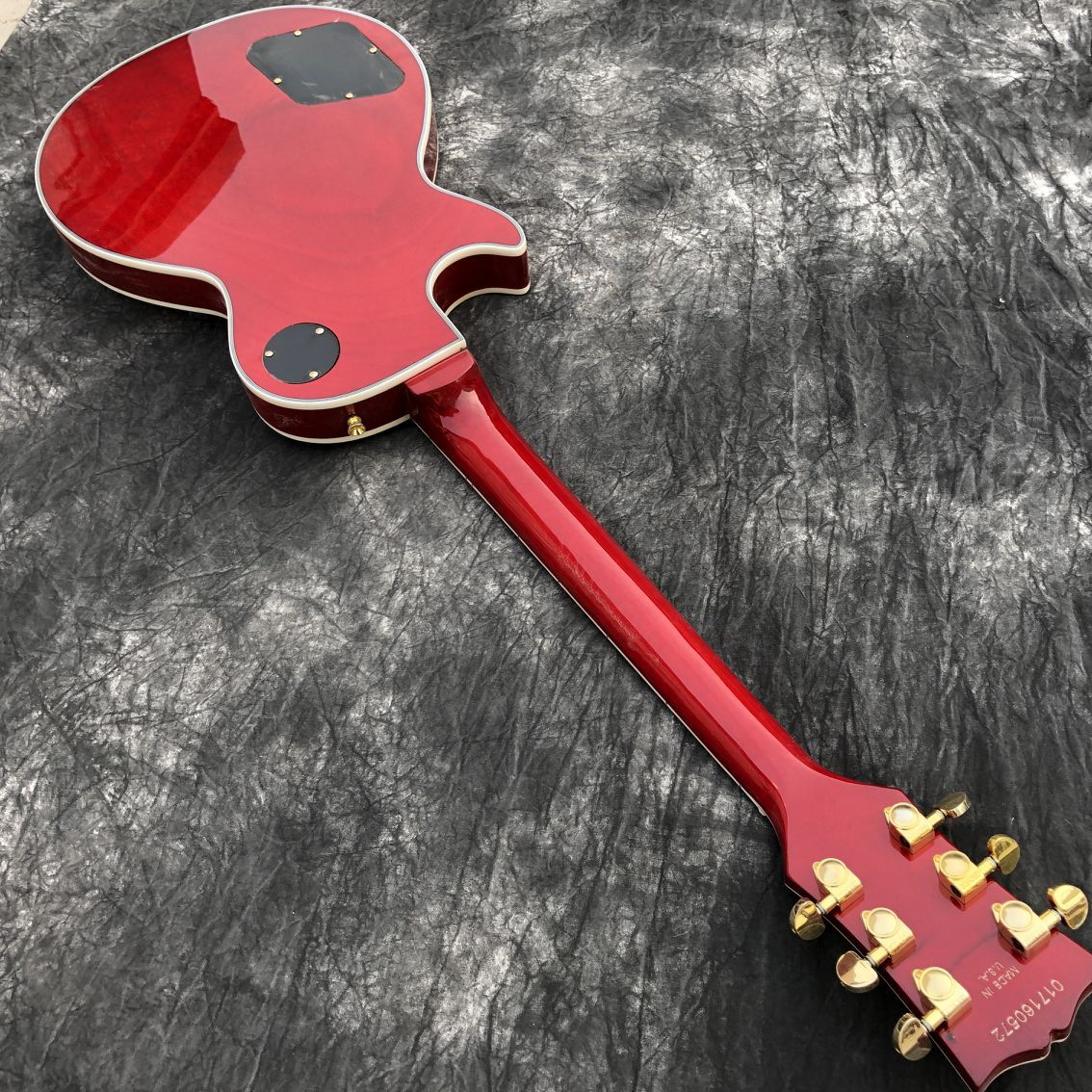 New standard Custom.Sunburst color Flame electric guitar.mahogany body.Ebony fingerboard gitaar,handwork 6 Strings guitarra. enlarge