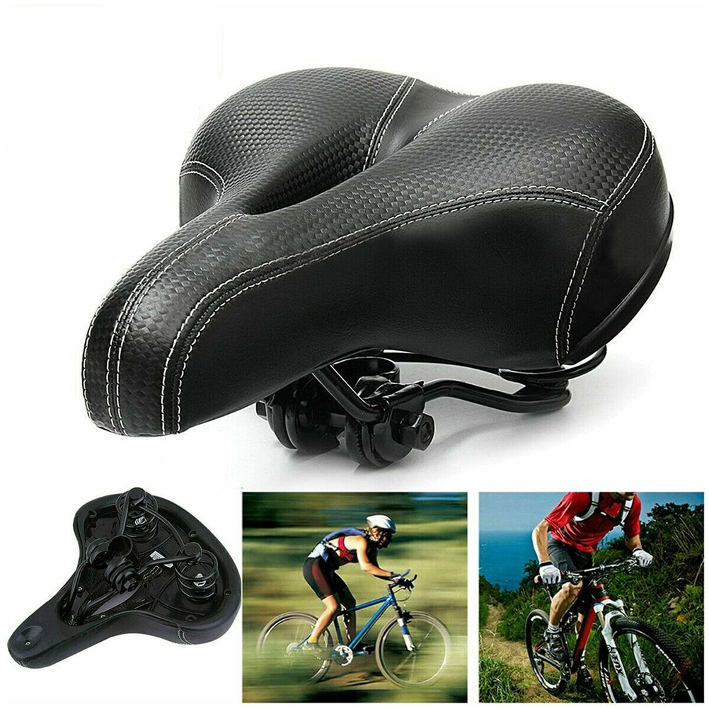 Bicycle Cycling Saddle Mountain Bike Carbon Seat for Road MTB Big Bum Comfort Soft Pad Leather Cushion