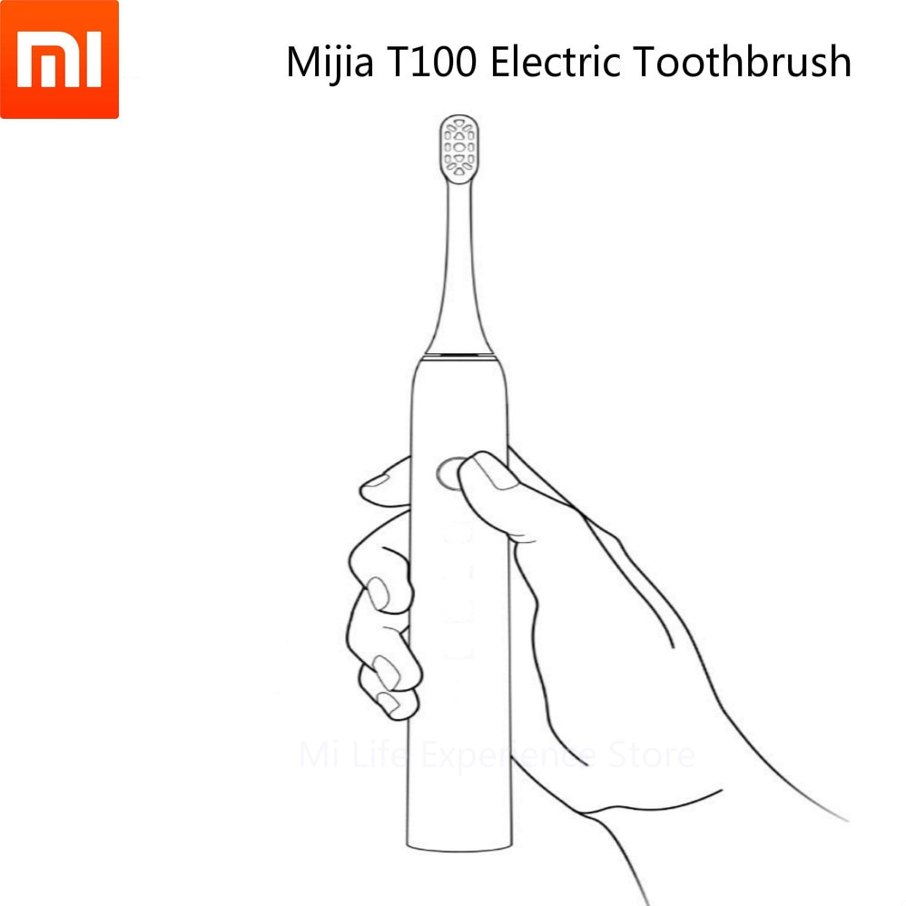 Original Xiaomi smart home Mijia Ultrasound Electric ToothbrushT100 USB Rechargeable IPX7 Waterproof Essential for home travel