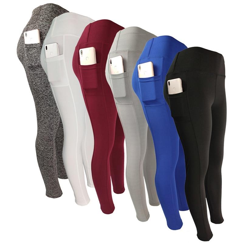 2021 Solid Color Piece Leggings China Manufacturers Pocket Legging For Women