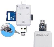3in1 Ordinateur Micro SD SDHC TF Lecteur De Carte SD pour iPhone 11 Pro 12 X XS MAX XR 6 7 8 Plus Pour ipad pour Xiaomi Android OTG Téléphone