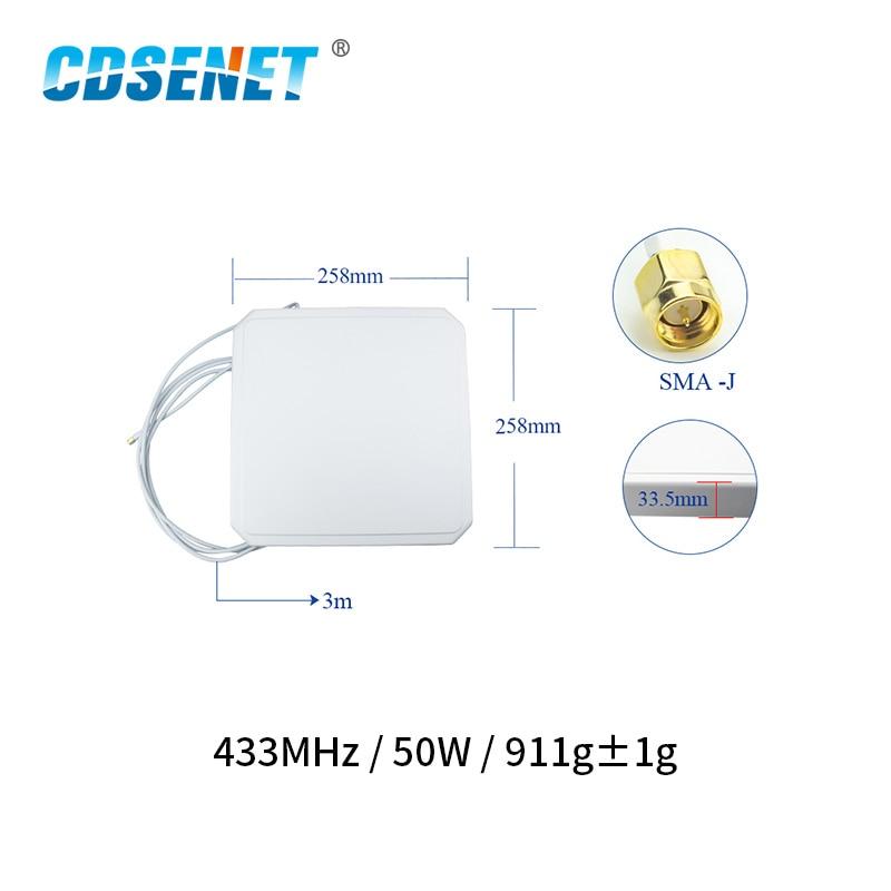 433MHz 8.0dBm High Gain Wifi Antenna SMA-J 50W Directional TX433-PB-2626 Aerial Antena