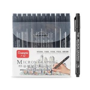 12pcs/set Waterproof Fade Proof Micron PenTip Fine Liner Black Sketch Water Marker Pen for Manga