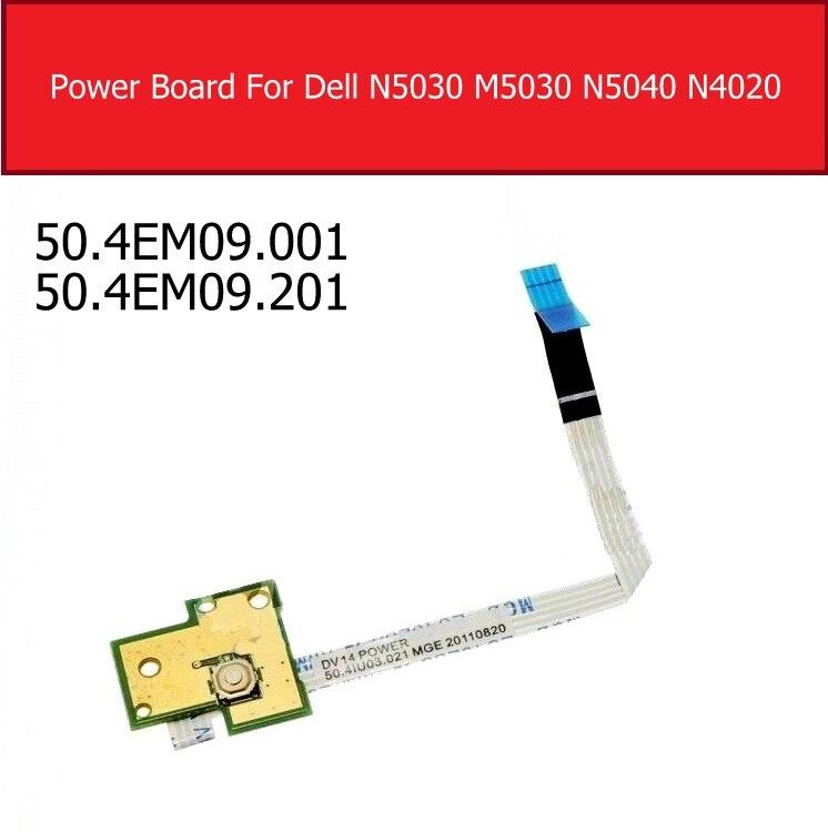 Na placa de alimentação para para dell n5030 m5030 n5040 n4020 n4030 n4050 n/m4040 1540 interruptor botão jack placa 50.4em09. 001 50.4em09. 201