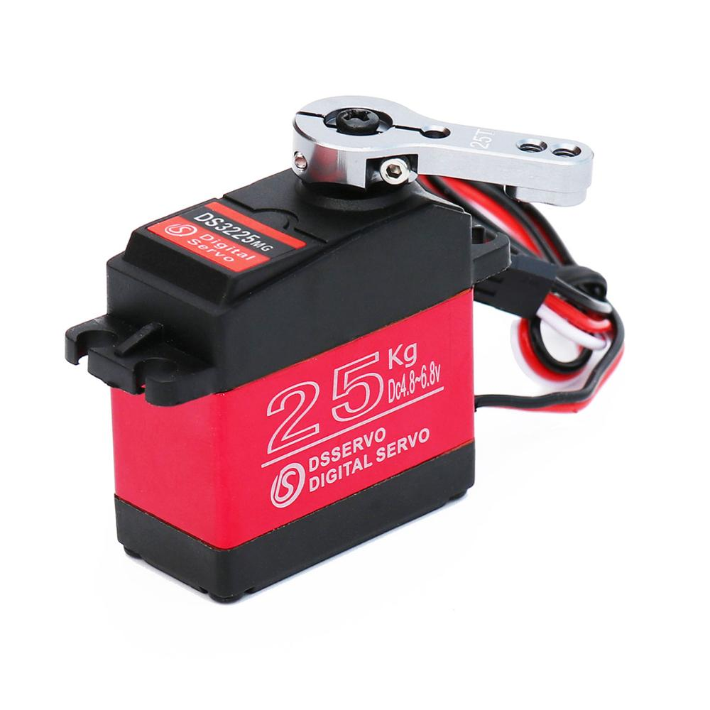 Pastall 25KG Digital Servo Full Metal Gear High Torque Waterproof for RC Car Crawler Robot Control Angle 270° ds3218mg 20kg high voltage 5v 6 8v large torque digital servo metal shell waterproof servo for 1 10 1 8 rc car truck boat