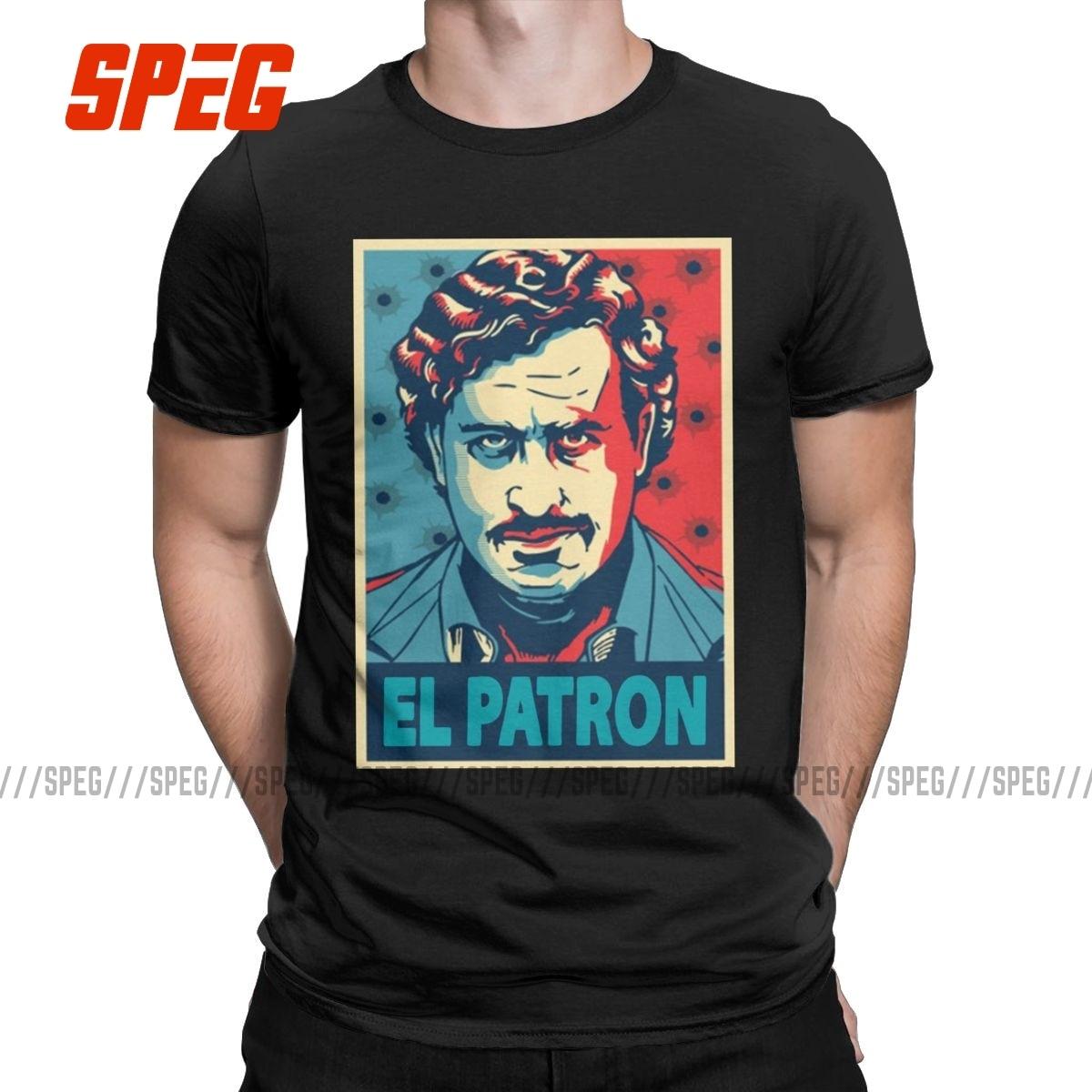 Amazing-camisetas de Escobar de Pablo para hombre, de cuello redondo Camisa de...