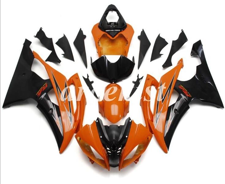 New ABS Injection Mold Fairings Kit Fit For YAMAHA YZF - R6 2008 - 2016 08 09 10 11 12 13 14 15 16 Bodywork set orange black