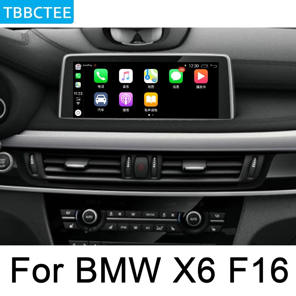 Para BMW X6 F16 2014 ~ 2018 reproductor Multimedia HD 1080P HD IPS pantalla LCD Android Car Radio BT 3G 4G WIFI AUX USB GPS Navi