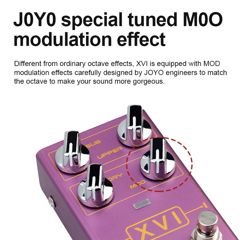 Xvi Mini Effects High Octave Adjustment Electric Guitar Effects Low Octave Adjustment Guitar Effects JOYO R13 enlarge