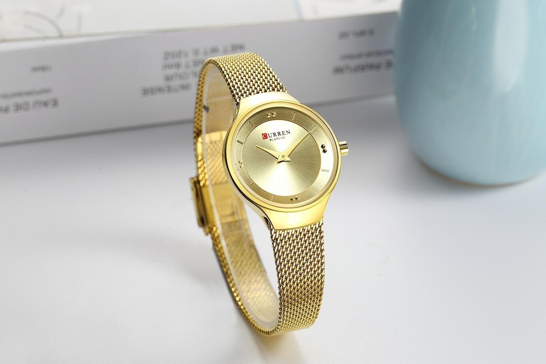 CURREN Female Clock 2019 Women's Watches Modern Fashion Gold Stainless Steel Ladies Quartz Wristwatches Waterproof Montre Femme enlarge