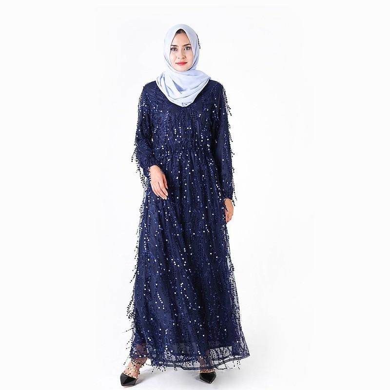 Fashion Tassels Sequins Islamic Clothing Muslim Turkish Luxurious Dresses Abayas for Women Abaya Dubai Bangladesh Dress