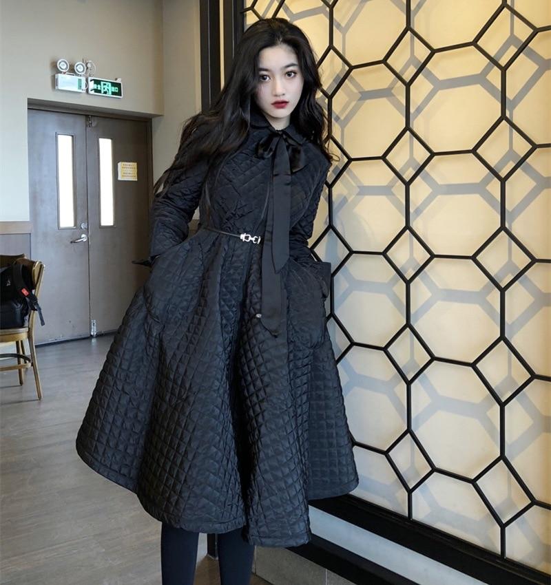 Vintage Chaqueta de algodón vestido de mujer Otoño Invierno suelta Ropa de...