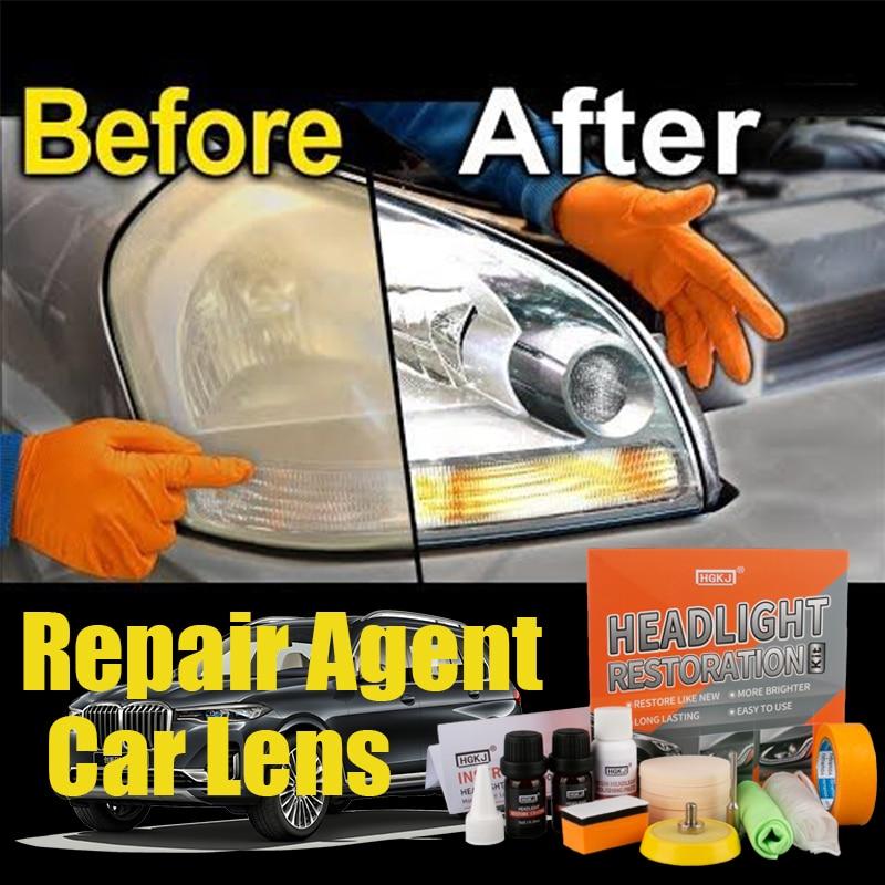 HGKJ Kit de restauración de faros de coche herramienta de Faro de pulido para el coche