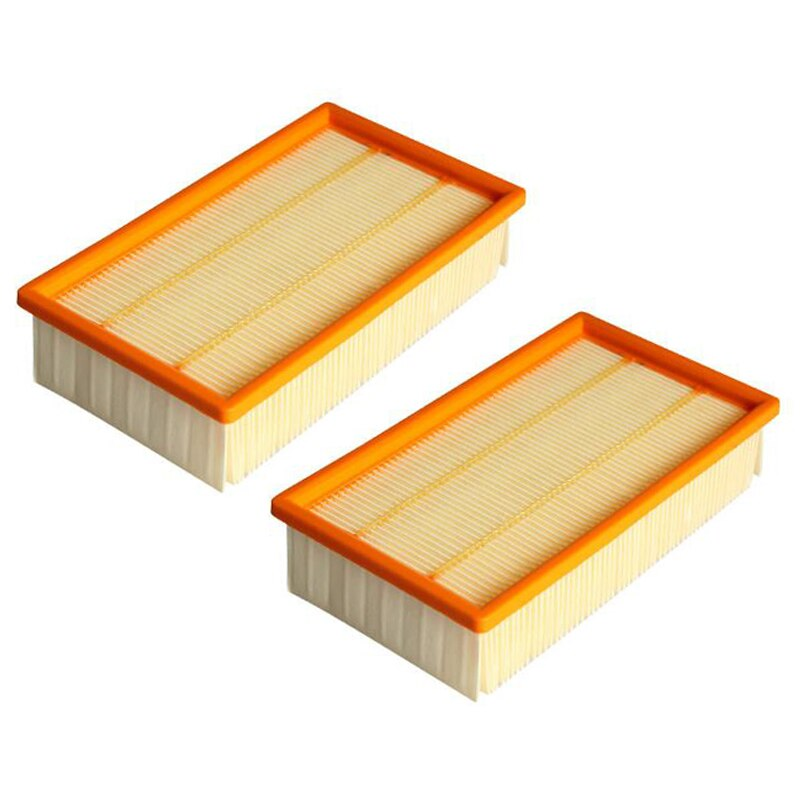 2 pces filtro plano para aspirador karcher nt25/1, nt35/1, nt45/1, nt55/1, nt361 eco