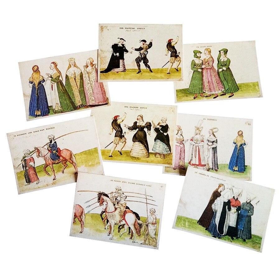 Винтажная открытка в стиле древней жизни человека, 16 шт./лот, модная Подарочная открытка, открытка, поздравительная открытка на день рождени...