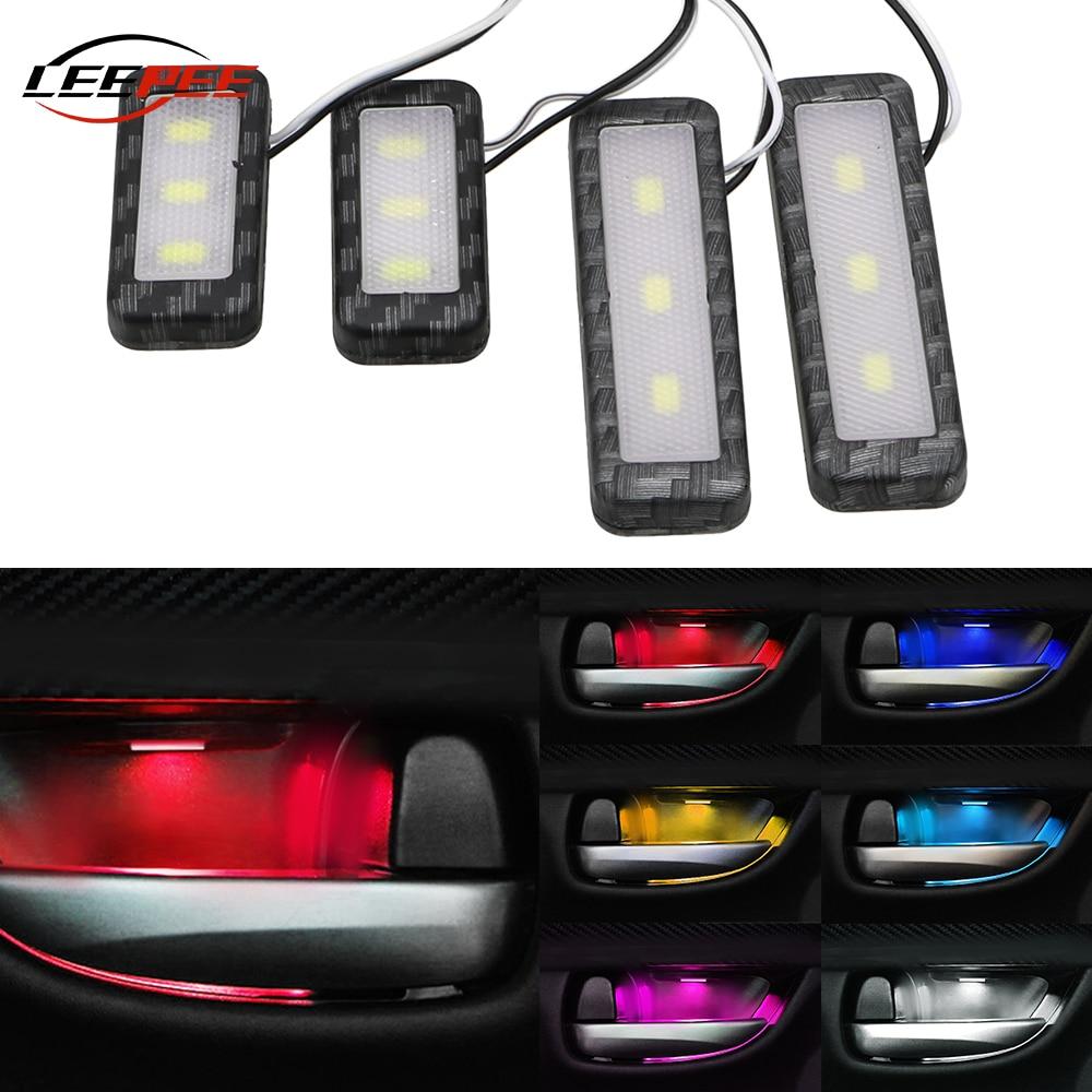 RGB Car Ambient Light LED Mood Welcome Atmosphere Lamp Door Backlight Interior Decoration Caravan 4x4 Truck Van Auto Accessories