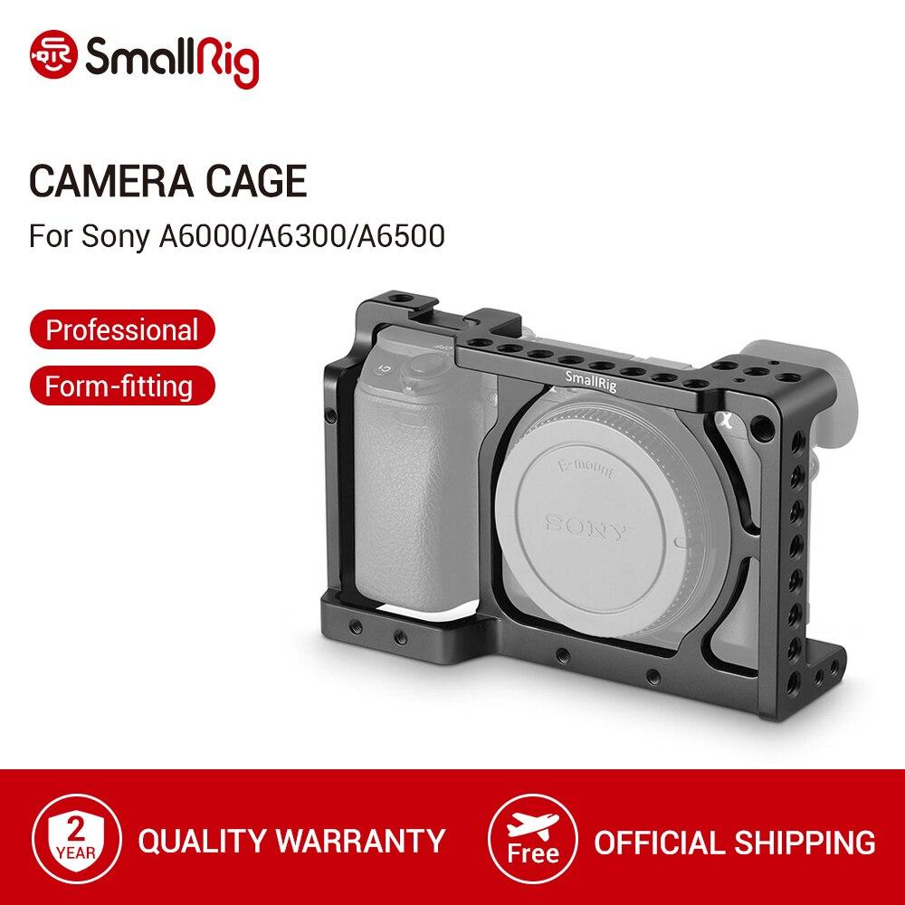 Клетка для камеры SmallRig для Sony A6000/A6300/A6500 ILCE-6000/ILCE-6300/A6500/Nex-7 клетка из алюминиевого сплава для крепления штатива-1661