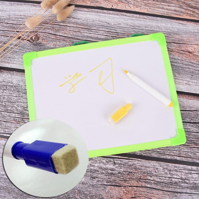 1 шт. планшет для письма детей доски протрите сухой доски Мини Рисунок маленькая подвесная доска с маркер для белой доски 18,5 см * 24,5 см